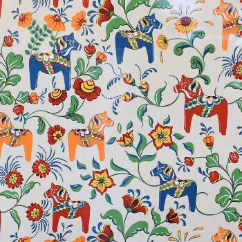 Textilvaxduk - Dalahästar