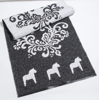 Gourd carpet with Dala horses 70x150 cm - Reversible vinyl mat