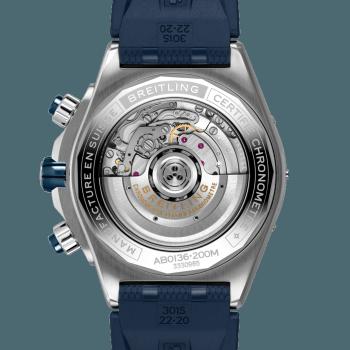 Breitling Super Chronomat B01 44 Stål Blå Gummi