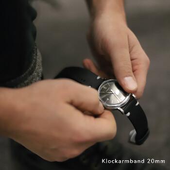1 - Klockarmband gravyr älskad , svart läder vintage läderarmband klocka herr dam | C Stockholm romantisk present till pojkvän honom