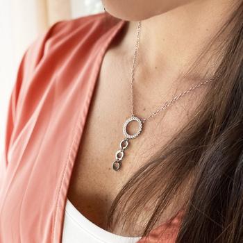 3 barn - Fint mamma barn halsband i allergivänligt stål | C Stockholm mor dotter son smycken