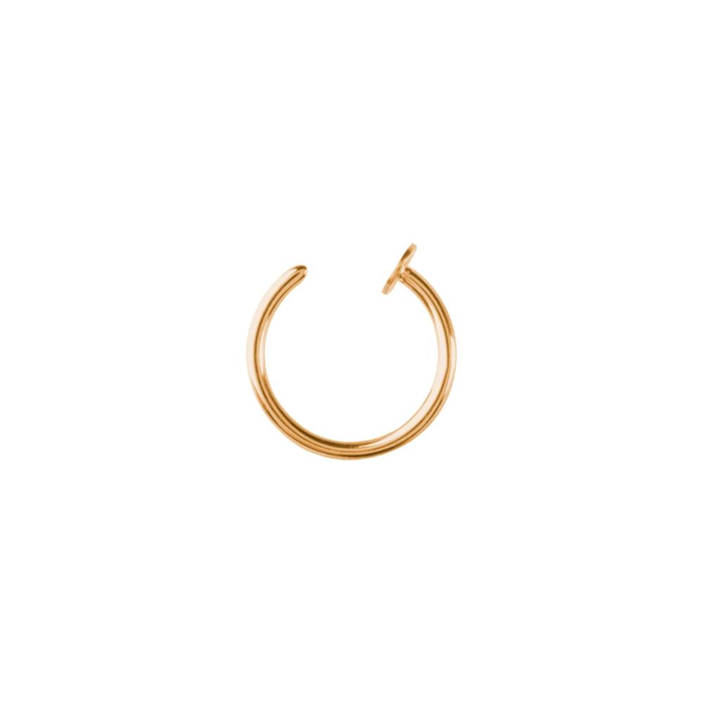 Open nosering - stål - guld - 0,8 mm - fakering