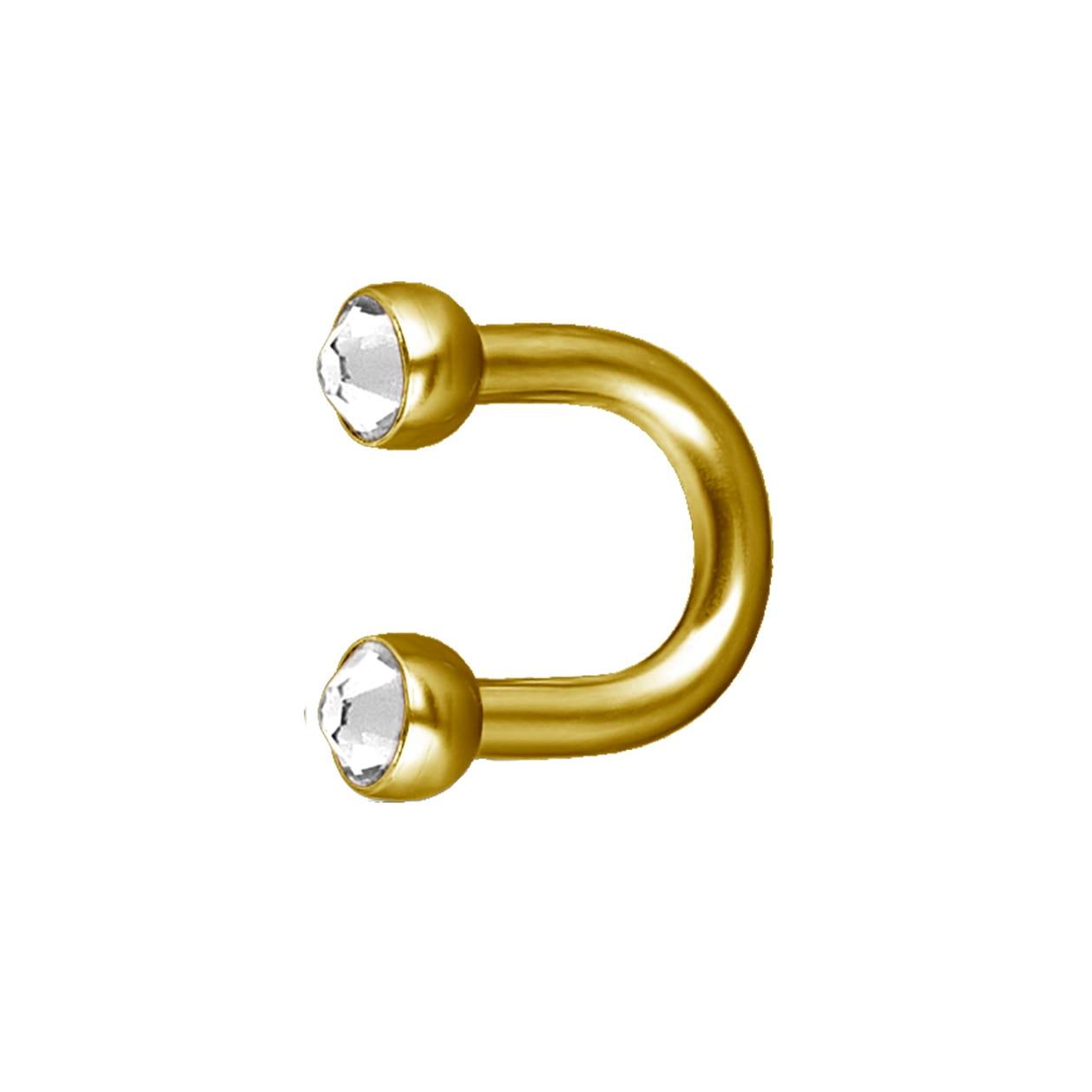Liten hästsko barbell - 24K guld PVD