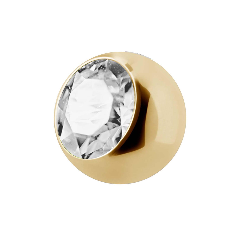 Extrakristall - 1,6 mm - Guld - Vit kristall