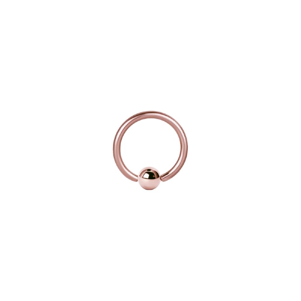 Ball Closure Ring - 1,2 mm - 4 mm kula - Roséguld