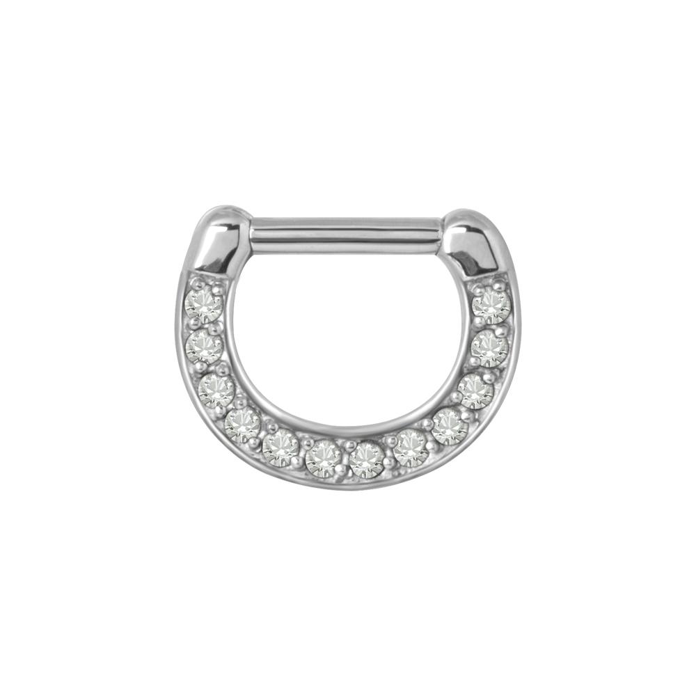 Clicker - 1,6 - stål med vit kristall