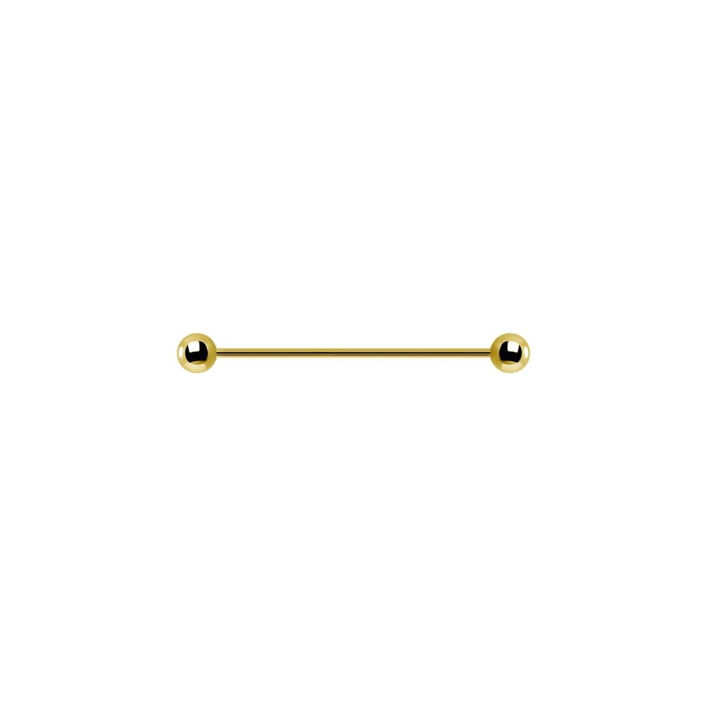 Lång barbell - 1,6 mm - 32-36 mm - Guld