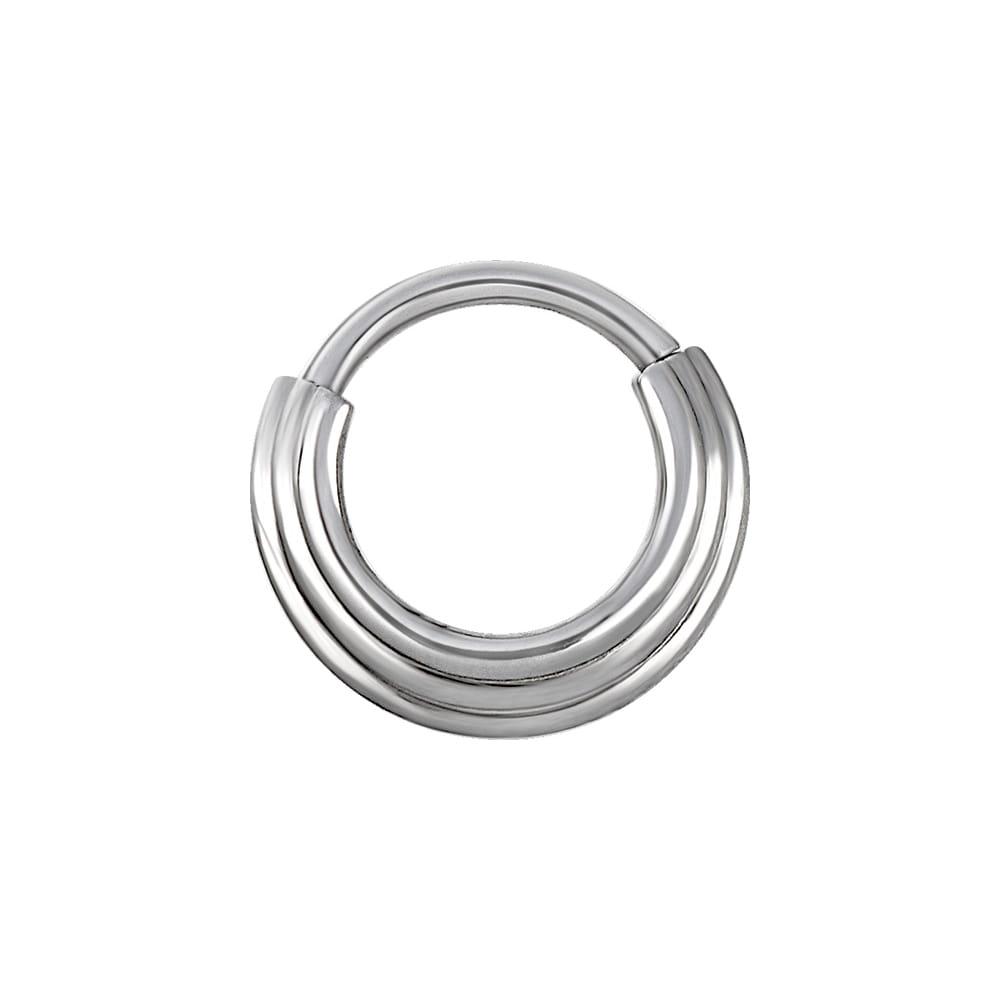 Clicker hinged ring - 1,2 X 10 mm - stål