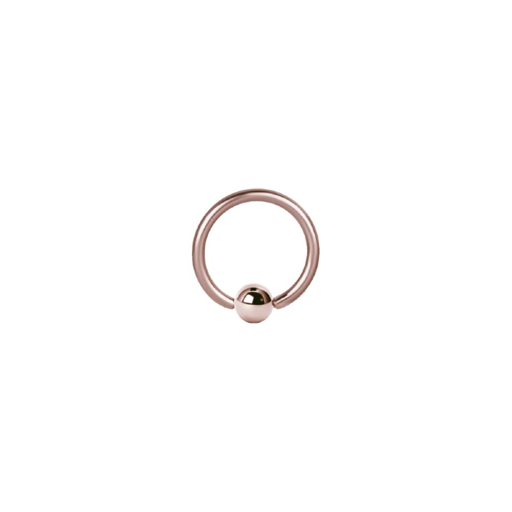 Ball Closure Ring - 1,6 mm -4 mm - Roséguld