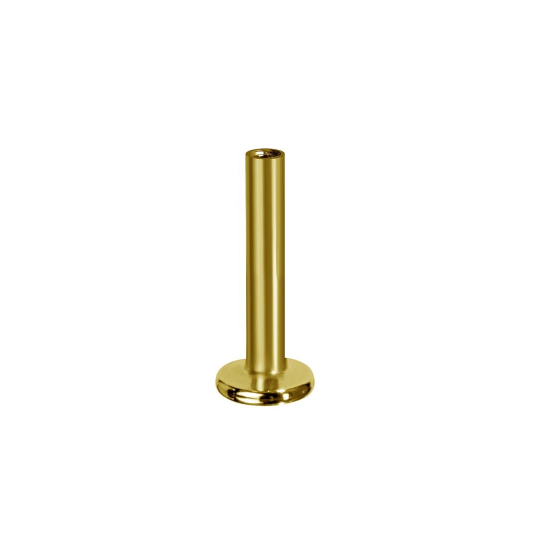 Invändigt gängad labret - 18K äkta guld