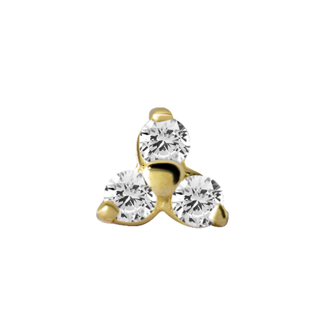 Topp - trinity - 18K äkta guld