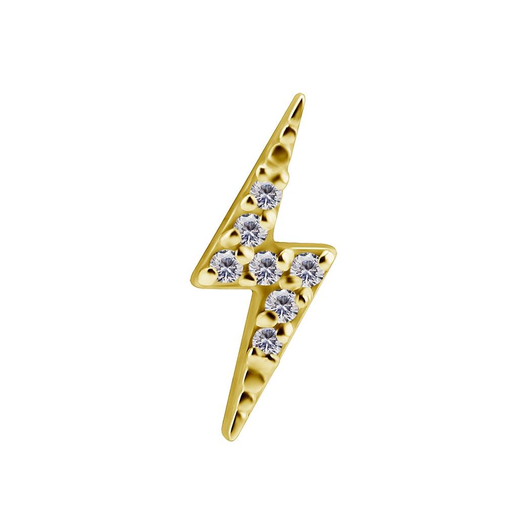 Topp - blixt med swarovskikristaller - 18K äkta guld