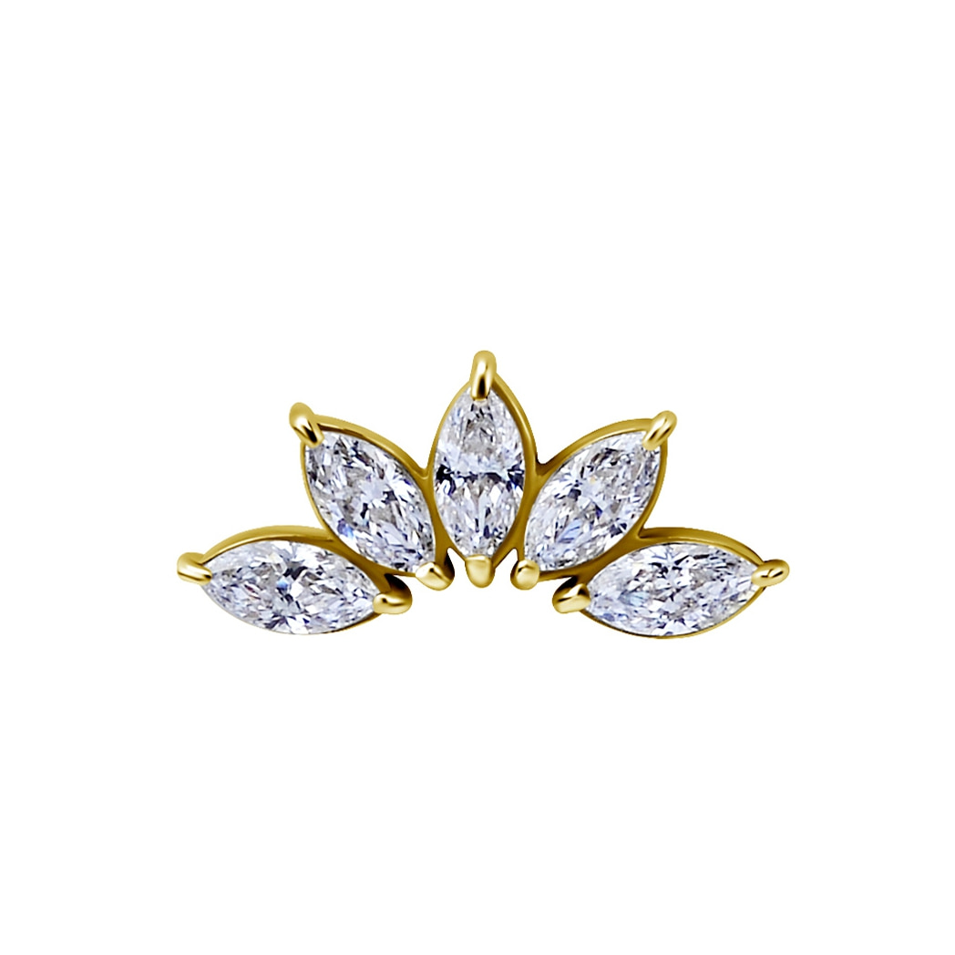 Topp - 5 st swarovskikristaller - 18K äkta guld