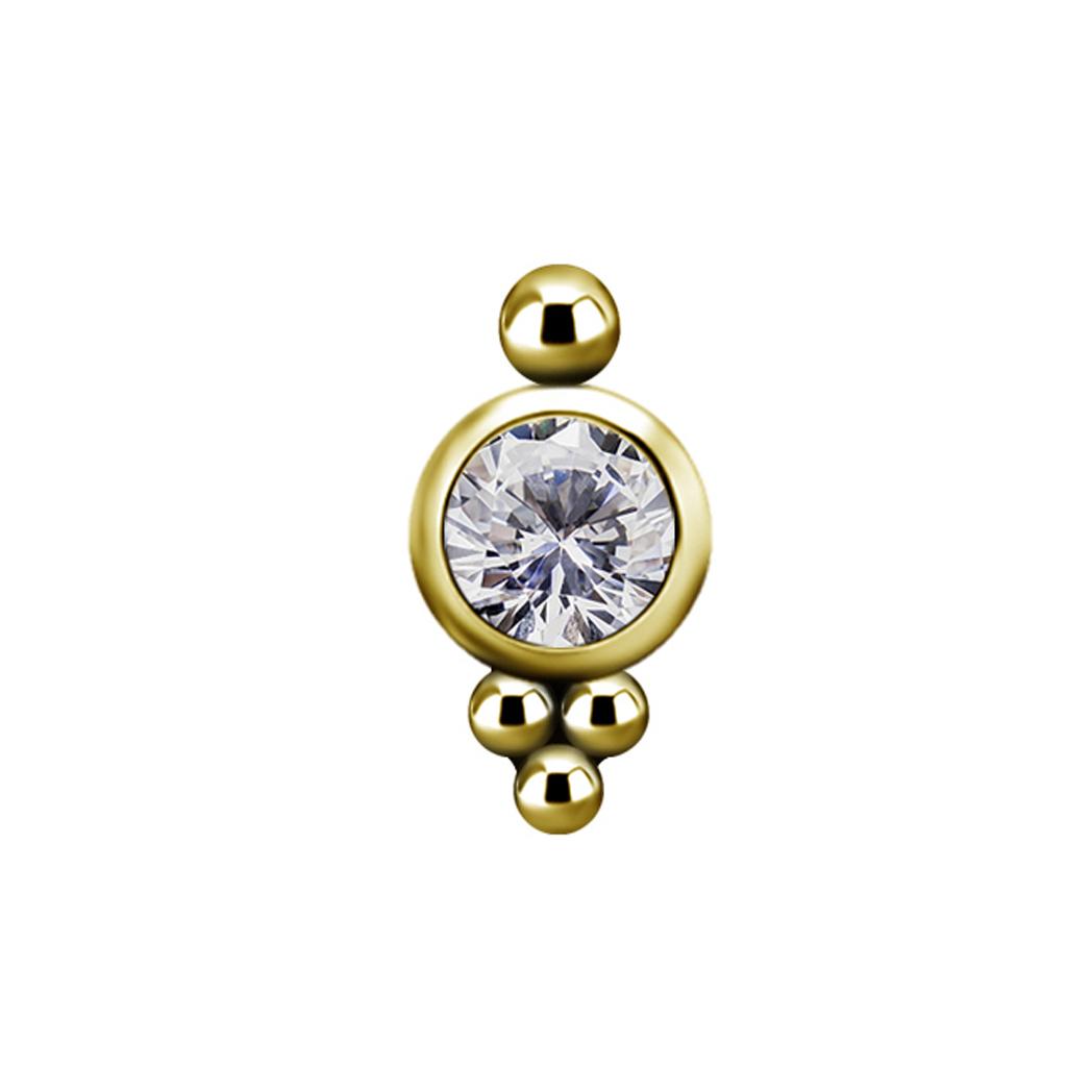 Topp - swarovskikristall - 18K äkta guld