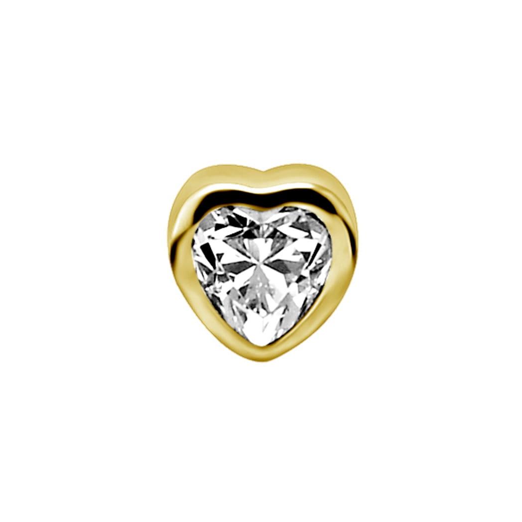 Topp -hjärta med swarovskikristall - 18K äkta guld
