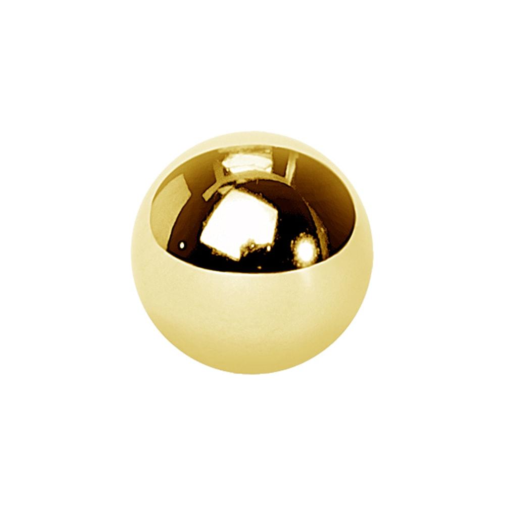 Reservkulor till piercing - 1,6 mm - 4, 5 & 6 mm - Guld