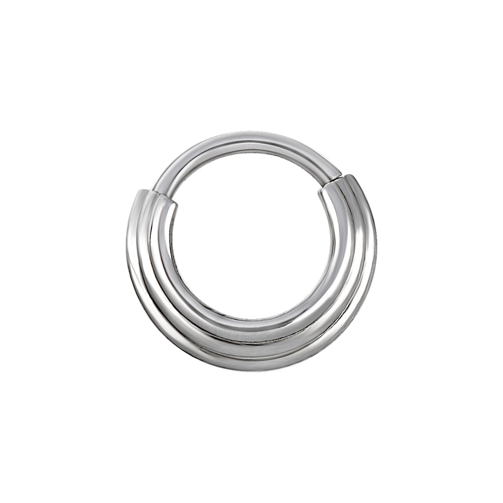 Clicker hinged ring - 1,2 mm - stål