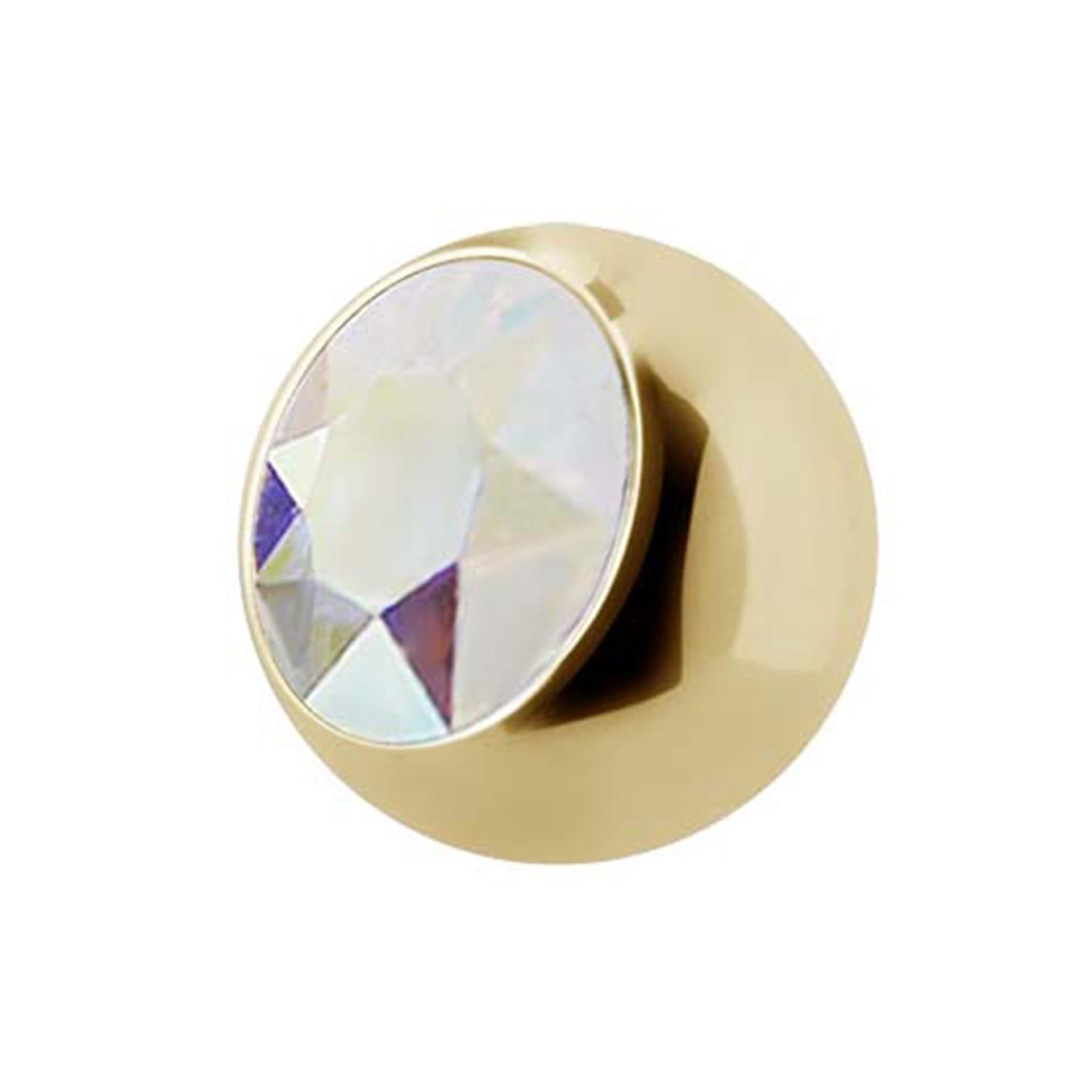 Extrakristall - 1,6 mm - Guld - Regnbågsskimrande kristall