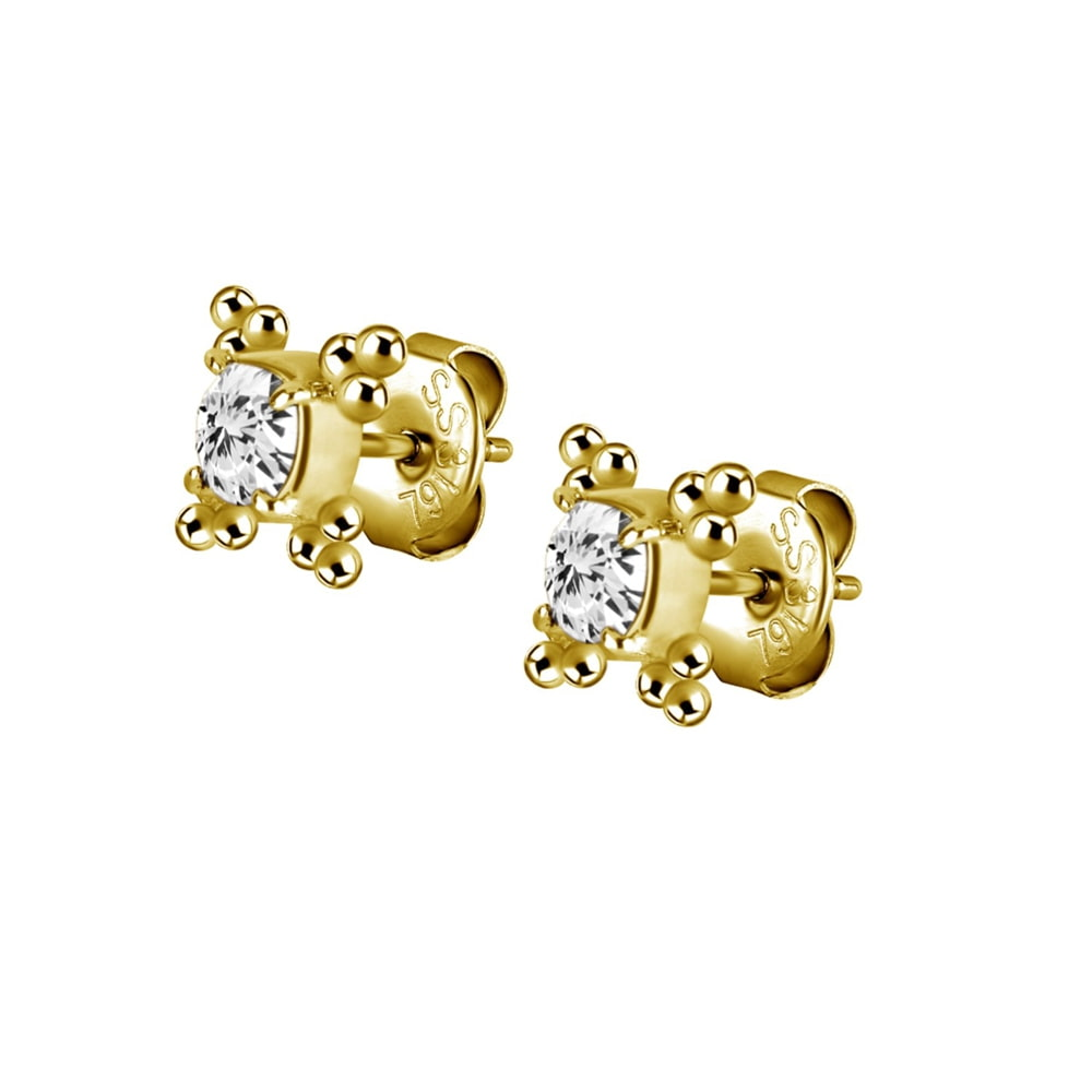 Örhänge - swarovskikristall - guld