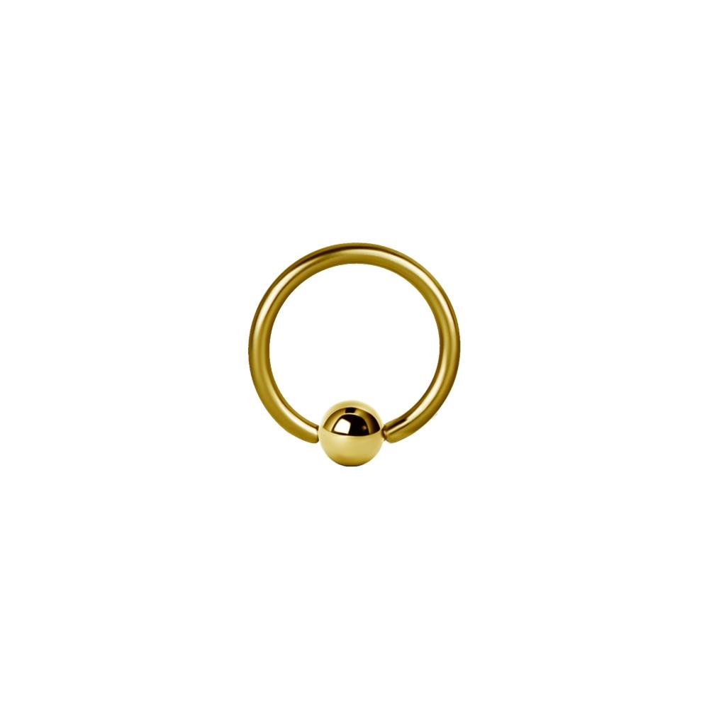 Ball Closure Ring - 1,2 mm - Guld