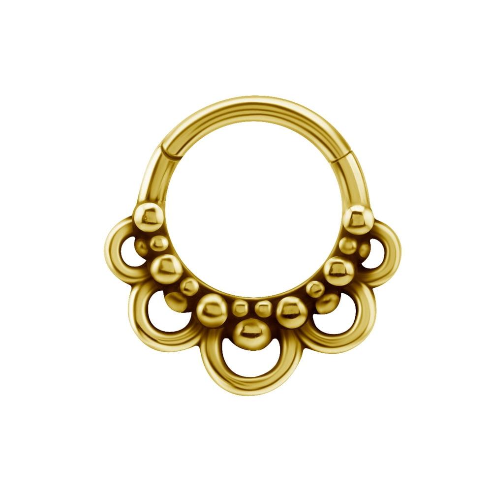 Clicker med vackert mönster - guld PVD
