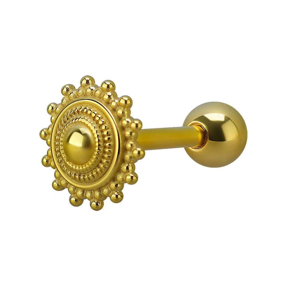 Piercingsmycke till tunga - guld