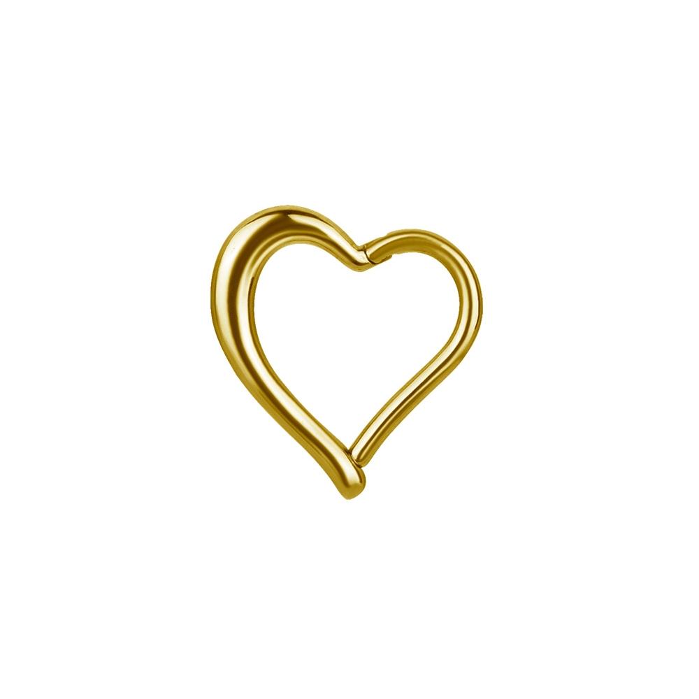 Clicker - 1,2 mm - hjärtform - guld