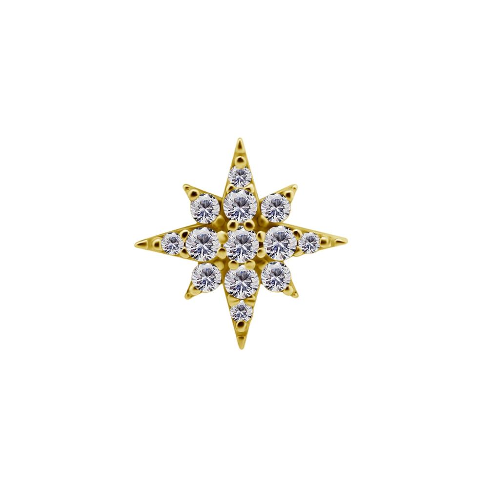 Topp - 18K äkta guld - stor stjärna