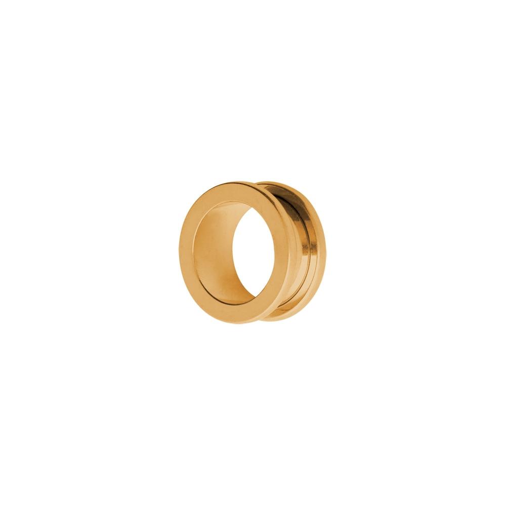 Fleshtunnel -Stora 12-20 mm - stål - guld