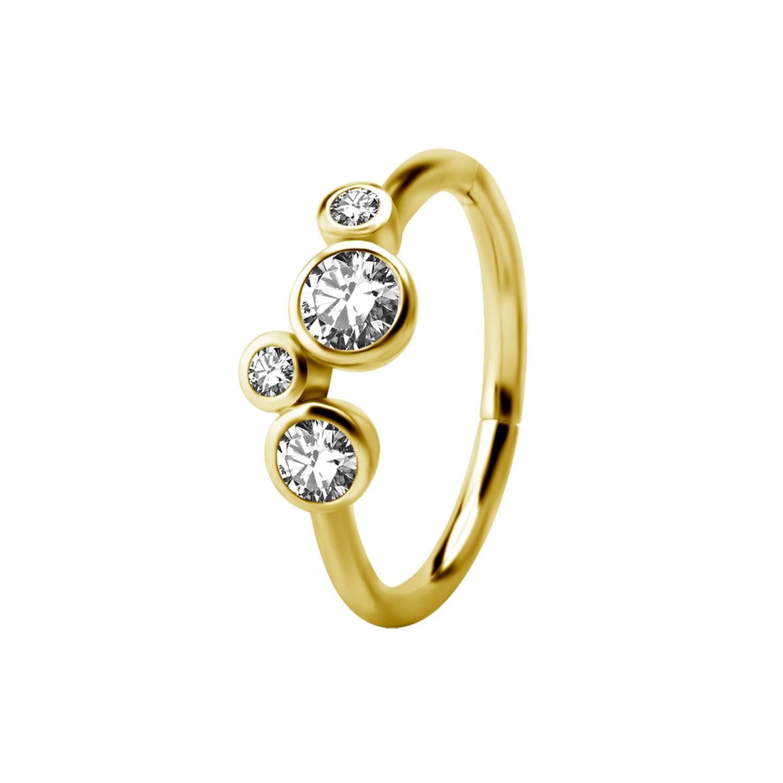 Clicker - kristaller - 24K guld PVD