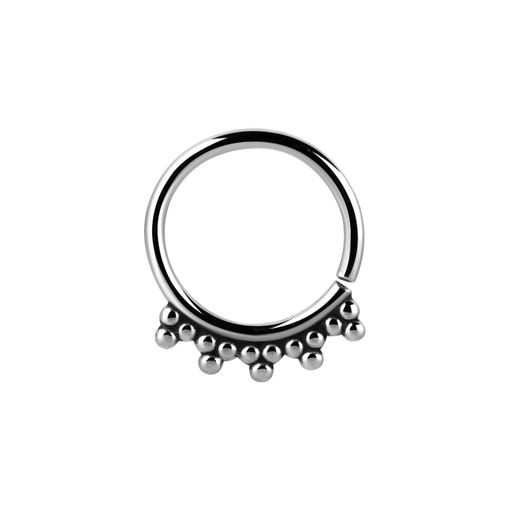 Ring - annealed tribalring - 1,2 - 8 & 10 mm -stål