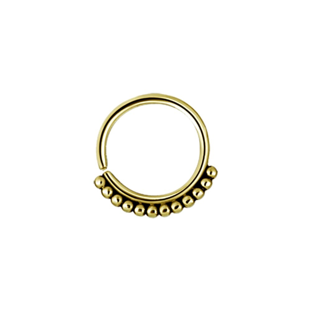 Ring - annealed tribalring - 1,2 - 8 & 10 mm -guld
