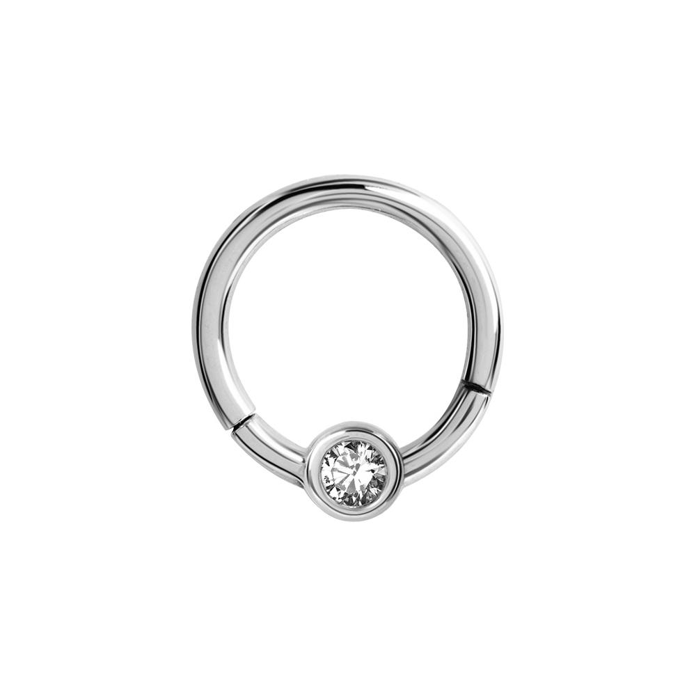 Clicker - 1,2 mm - öppningsbar - stål - vit kristall
