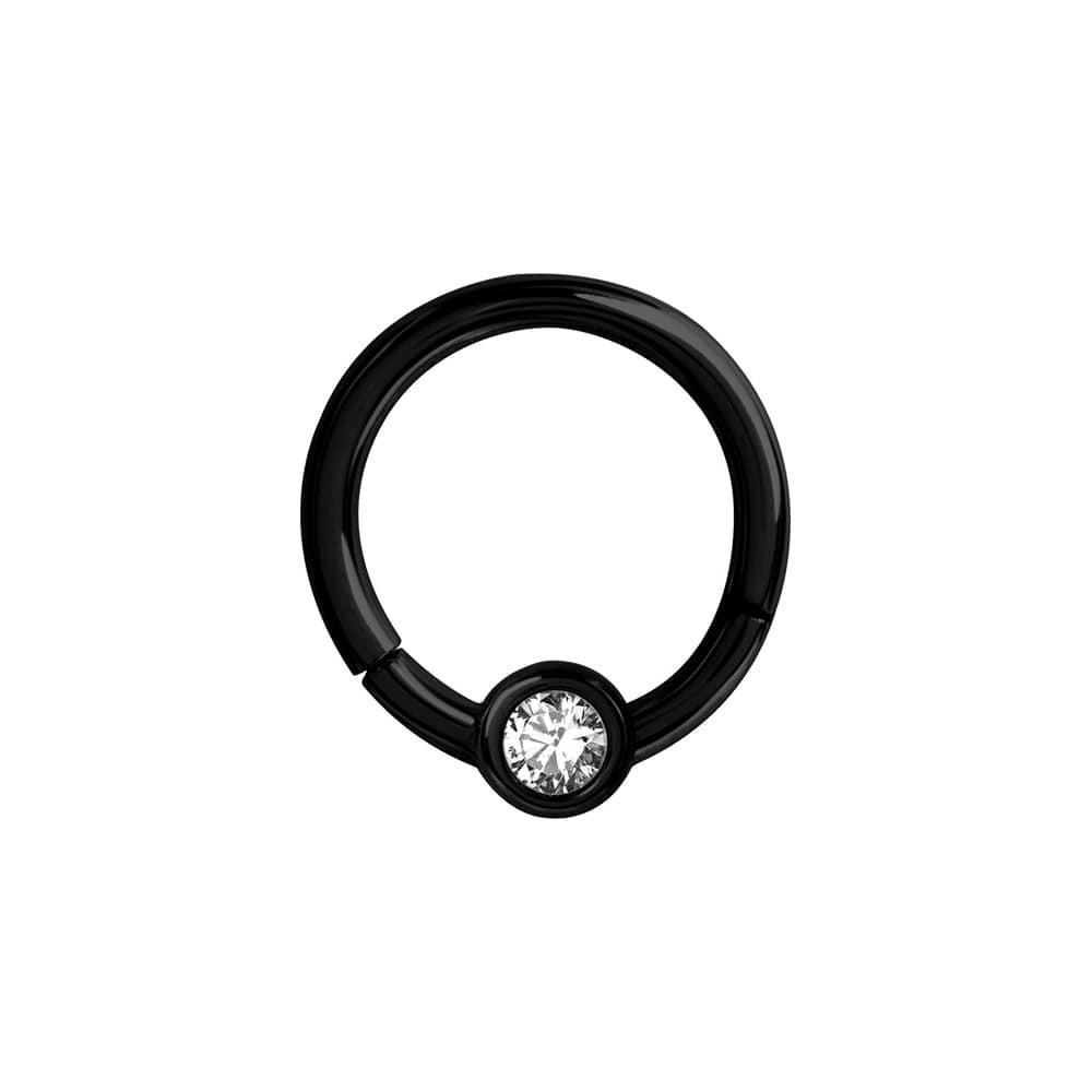 Clicker - 1,2 mm- öppningsbar - svart - vit kristall