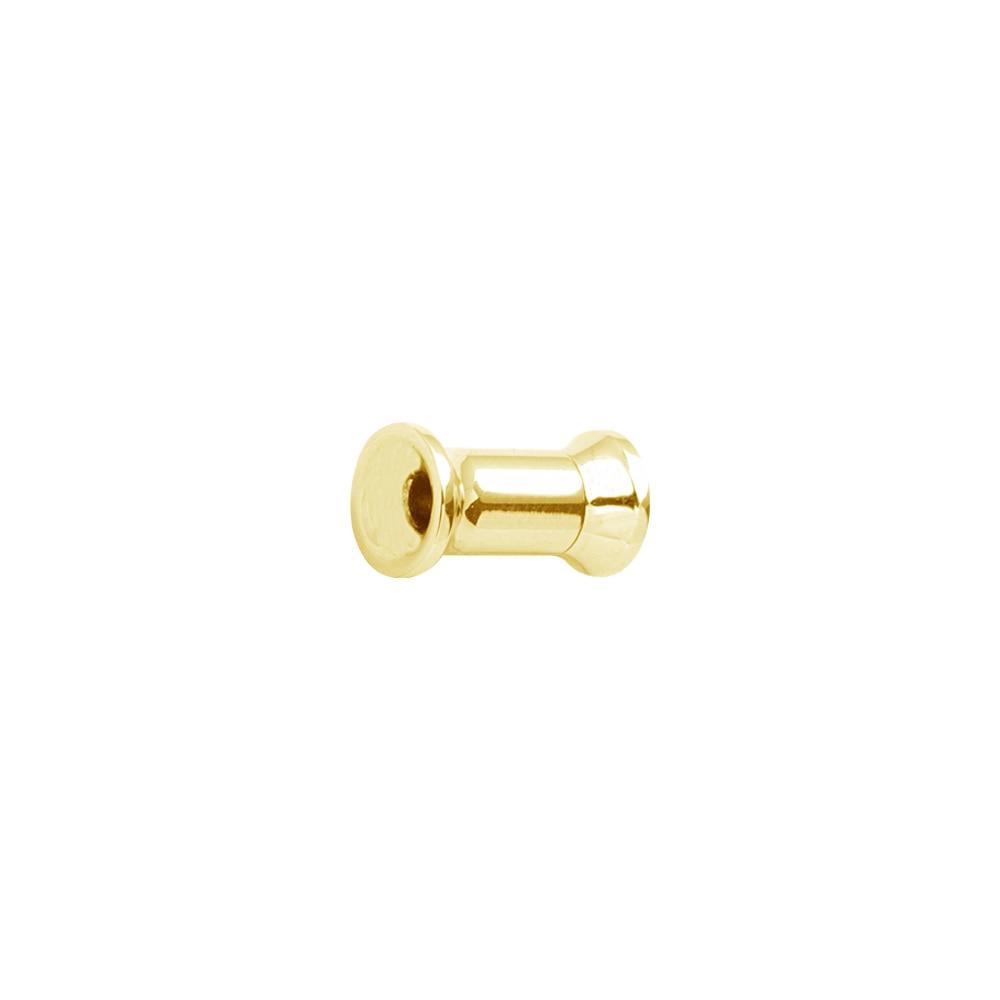 Fleshtunnel - Mindre - Invändigt gängad - 3-10 mm - guld