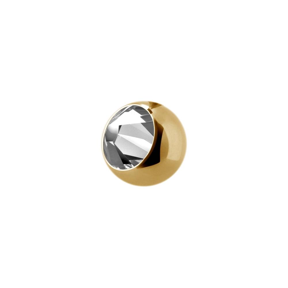 liten extrakristall - 1,2 mm - 2,5 mm - Guld - Vit kristall