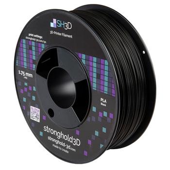 StrongHold PLA filament (1.75mm, 1Kg) — Svart